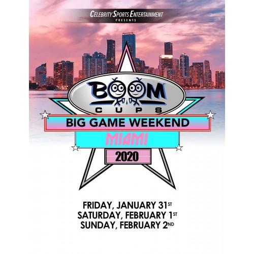 Boom Cups Big Game Weekend Miami Sponsorship